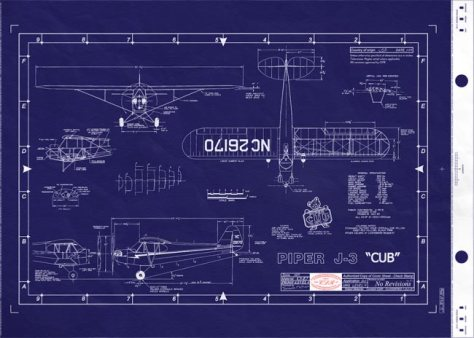 This is a blueprint for a J3 cub