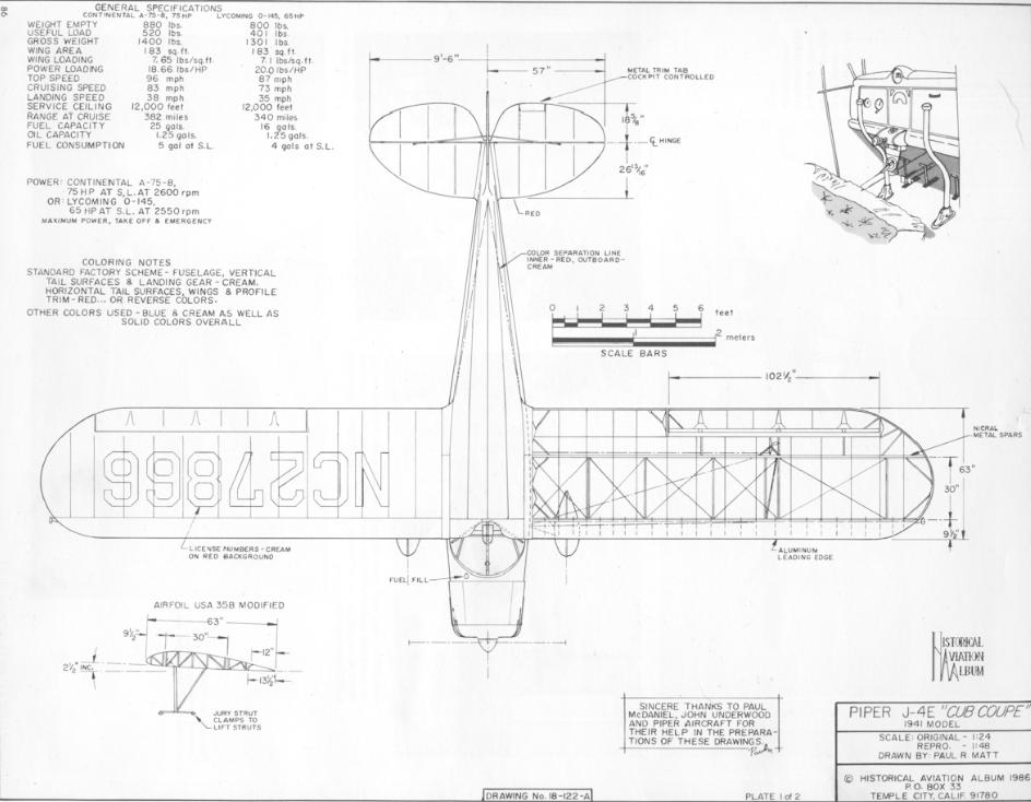 1942 Piper J4-E Cub | BATTLEFIND com